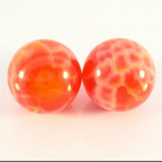 Agate fire perle
