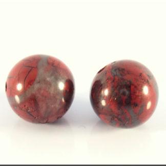 Jaspe poppy perle